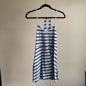 Black and White Nautical Stripe Dress